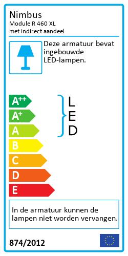 Module R 460 XL met indirect aandeelEnergy Label
