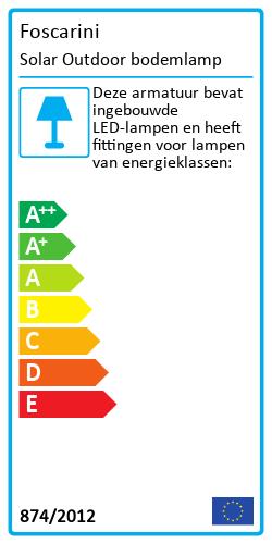 Solar Outdoor bodemlampEnergy Label