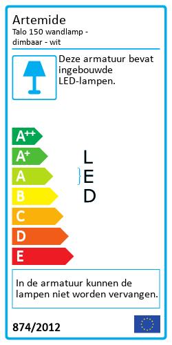 Talo 150 wandlamp - dimbarEnergy Label